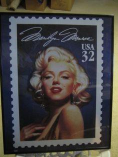 Marilyn Munro Postage Stamp Framed  by AnastasiSilverDesign, $22.00