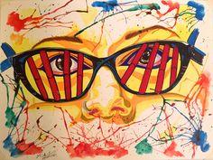 Cosima Niehaus: Watercolor splash + DNA (laptop skin