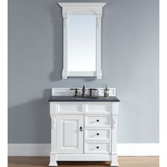 Bring a timeless look into your home with this beautifully handcrafted vanity. The classic finish and all natural marble or granite counter top make this a perfect addition to your decor.