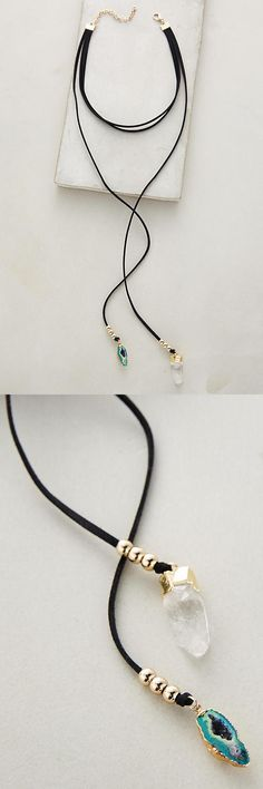 Shop the Stone Drop Choker and more Anthropologie at Anthropologie today. Leather Necklace, Diy Necklace, Leather Jewelry, Wire Jewelry, Boho Jewelry, Jewelry Crafts, Beaded Jewelry, Jewelry Accessories, Handmade Jewelry