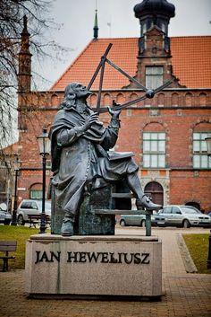 Jan Heweliusz Monument in Gdańsk, Poland