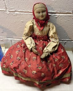 Vintage Soviet Russian Molded Cloth Face Doll Toaster Cover