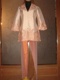 Blouse n trousers with handmade embroidery