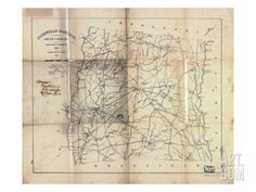 1825, Abbeville District surveyed 1820, South Carolina, United States Giclee Print at Art.com