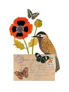beautiful watercolor bird by Gennine.