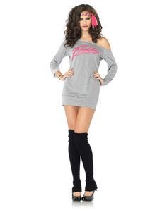 542c78fe1f411 Flashdance Sweatshirt Dress Adult Womens Costume Flashdance Costume