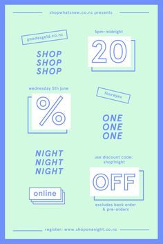 Shop One Night #S1N June 5th, 2013