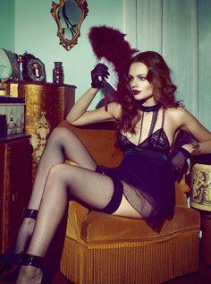 Hôtel du Nord   Photo Lucile Leber   Model Nicole Wronski   Les Jupons de Tess lingerie & Wolford stockings