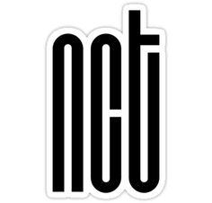 Black Wallpaper Laptop 'NCT Logo - Black' Sticker by Going-Kokoshop NCT stickers~~ (and greeting card)! Exo Stickers, Tumblr Stickers, Phone Stickers, Printable Stickers, Planner Stickers, Trendy Wallpaper, Wallpaper Iphone Cute, Black Wallpaper, Wallpaper Lockscreen