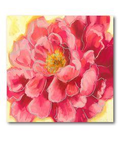 Look at this #zulilyfind! Fresh Bloom II Wrapped Canvas #zulilyfinds