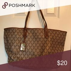 Ralph Lauren tote bag (large) One inner side pocket with zipper. Worn where 113047adb9002