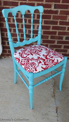 Turquoise chair by Chrissie's Collection.