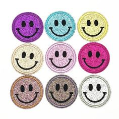 """HAVE A NICE DAY EMBROIDERED PATCH 9CM X 7CM 3 1//2 X 2 3//4/"""" SMILEY FACE"""