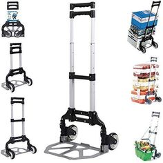 170 lbs Cart Folding Dolly Push Truck Hand Collapsible Trolley Luggage Aluminium #HomeIdeas