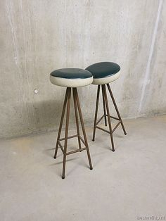 Sixties vintage retro kruk barkruk, bar stool mid century design fifties