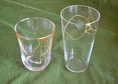 Kintsugi glass