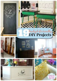 Great Ideas -- 19 Budget-Friendly DIY Projects!! --Tatertots and Jello #DIY #budget