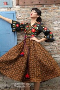 batik amarillis's amarantha dress-PO(excluded obi belt)