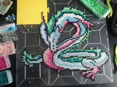 Spirited away dragon Perler by rushtalion.deviantart.com on @deviantART