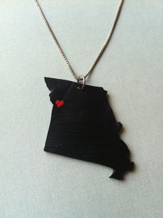 Customized state pendant. Handmade by Courtney Cox