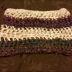 Protect Ya Neck  Handmade Neck Warmer Almost a scarf - just enough to keep your neck warm. Lightweight and stylish, infinity style. Handmade by moi. No 2 alike - one of a kind. Cream, green, brown, & blue. New & never worn - no tags, handmade. Royal Fam Accessories Scarves & Wraps