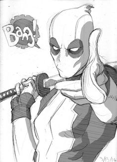 batman-j0ker:  probably my favourite picture of Deadpool. Cred to Reilly Brown of Deviantart