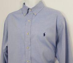 Polo Ralph Lauren Yarmouth Pony Dress Shirt Button Down Collar sz 16 1/2 X 35 #PoloRalphLauren