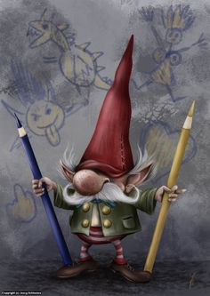 The Drawing-Gnome commands to you : DRAW MORE!! by Joerg Schlonies