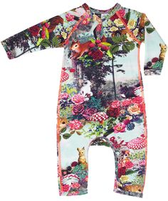 Molo super cool down in the woods playsuit - this print is also for your baby girl a must-have! #emilea