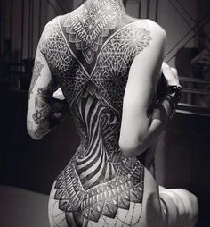 Mandala full back tattoo - 100 Awesome Back Tattoo Ideas