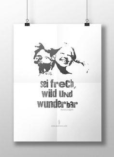 Poster Freebie zum Ausdrucken   prinatbles   Kindheitshelden - Pippi: sei frech wild und wunderbar   paulsvera