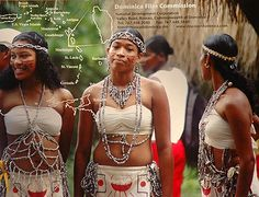 Indigenous people of Dominica. Not Dominican republic But the island between Martinique and Guadeloupe