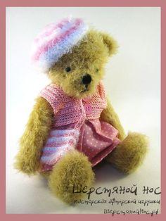 "Мишка в розовом. Коллекция ""Модницы"" #teddybears #handmade #toys #teddybears #presents #knitting"