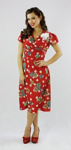 . The Rosa Dress - Imported from the USA - HOLLYWOOD FLAME