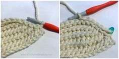 Learn how to crochet the knit-look Done in One Beanie. Done in one hour using less than 1 ball of yarn, the Done in One Beanie is perfect for craft fairs! Chunky Crochet Hat, Crochet Beanie, Knitted Hats, Crochet Hats, Knitting For Kids, Crochet For Kids, Free Crochet, Modern Crochet, Beanie Pattern
