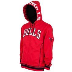 Chicago Bulls Fury Fleece Full Zip Hoodie - Red
