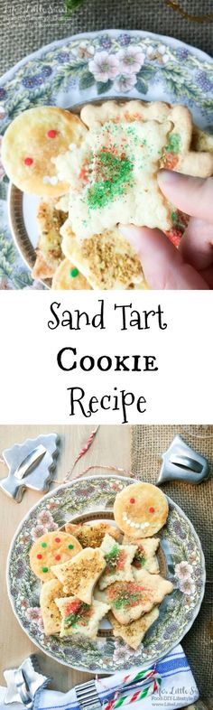This Sand Tart Cookie Recipe is our family recipe perfect for the Christmas & Holiday season making a big batch of cookies. These cookies are easy to customize to your tastes with various toppings and make a fun activity for everyone involved. Check out Desserts For A Crowd, Easy Desserts, Delicious Desserts, Italian Desserts, Christmas Desserts, Christmas Sprinkles, Christmas Holiday, Christmas Cookies, Tart Recipes
