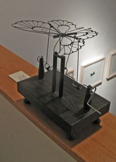 Kinetic wire sculpture by the artist Bruce Campbell.
