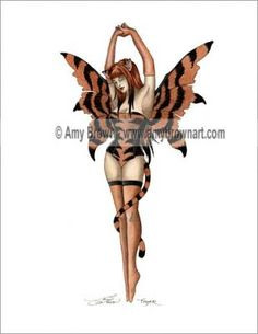"""Amy Brown Fairy   Fairy Cat """"Fairy Cats"""" Tiger©Amy BrownTiger©"""