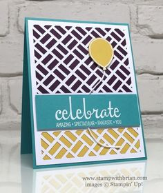 Fabulous Four, Balloon Celebration, Stampin' Up!, Brian King, May 2016 Many Manly Occasions Card Tags, I Card, Fabulous Four, Diy And Crafts, Paper Crafts, Stampin Up Paper Pumpkin, Pumpkin Cards, Thanks Card, Stampin Up Cards