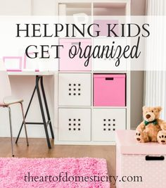 My husband, Scott, and I have 5 kids.  Some are naturally neat and tidy, and some are rather challenged in the area of organization (that's the nice way of saying it). I've learned the hard way over the years that it's easier in the long run to take the time to teach kids organizational skills than to continually pick up after them.  Here are a few lessons I've learned about kids and organization