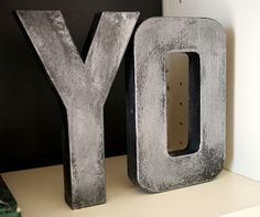 Tutorial to make the Zinc looking Letters from Anthropologie. Save yourself some moola and paint your own!