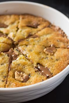 This Giant Chocolate Chip Cookie Stuffed with Peanut Butter Cups is not for the faint of heart. Dieters/chocolate haters/cookie haters/happiness haters…please avert your eyes. Because this a giant soft and chewy chocolate chip cookie stuffed with ooey gooey peanut butter cups and it's not something to be taken lightly. For the rest of you, welcome toRead more