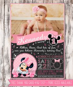 Hey, I found this really awesome Etsy listing at https://www.etsy.com/listing/216557531/minnie-mouse-invitation-minnie-mouse