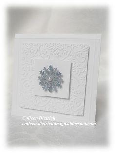 Single snowflake Christmas card.