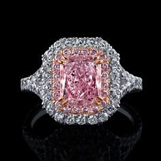 Pink Diamond ring #rarediamondsoftheworldcollection