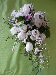 a delicate shower of spring flowers - by Spriggs Florist www.spriggs-florist.co.uk