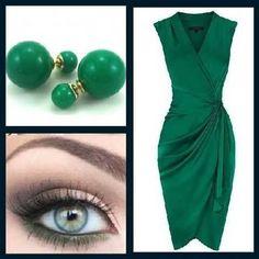 Verde pra te deixar elegante. Brincos Dondoka Dior Inspired Colors você encontra na @marqueedeluxe. Tenha o seu e inspire-se!!!!