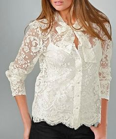 Revelation French Lace Shirt - so pretty and SOOO expensive French Chic Fashion, I Love Fashion, Womens Fashion, Fashion Details, Fashion Styles, Style And Grace, My Style, Beautiful Outfits, Cute Outfits
