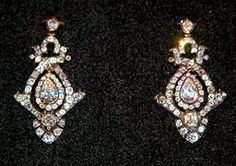 Family earrings loaned to Lady Diana Spencer for her wedding to The Prince of Wales in 1981. Photo: London Evening Standard